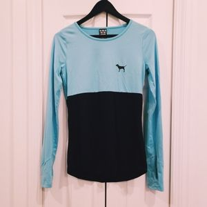 VS PINK Ultimate Long Sleeve Work Out/Lounge Top